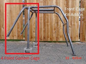 1966-1977 Ford Bronco Custom Cage - 4 Point #BR4