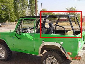 1966-1977 Ford Bronco Rear Family Cage Kit #BR3